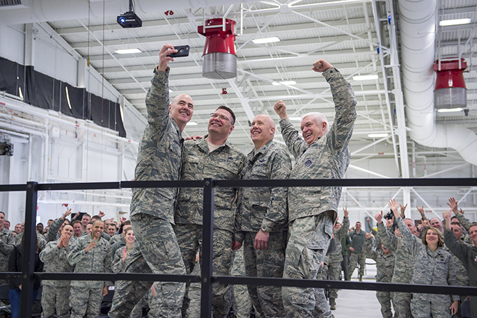 The Director and Command Chief of the Air National Guard visit's the 133rd Airlift Wing
