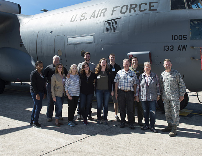 Minnesota's Congressional Delegation Staff visits the 133rd Airlift Wing