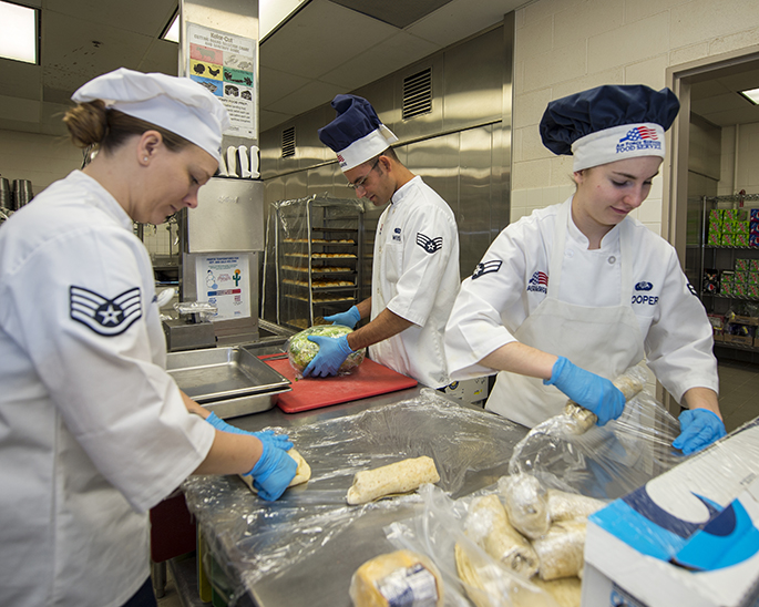 Sustainment Services Flight Prepares the Holiday Meal